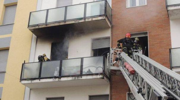 Vigili del fuoco in azione stamattina a Castelfranco