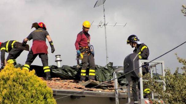 Uno degli interventi dei vigili del fuoco