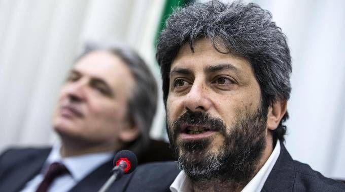 Roberto Fico  con il direttore generale della RAI, Antonio Campo Dall'Orto (Ansa)