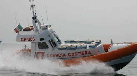 La motovedetta della Capitaneria di Porto