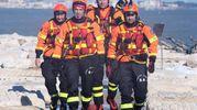 Le squadre che hanno partecipato per ore alle operazioni (Migliorini)
