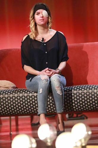 Gessica Notaro in tv (foto LaPresse)