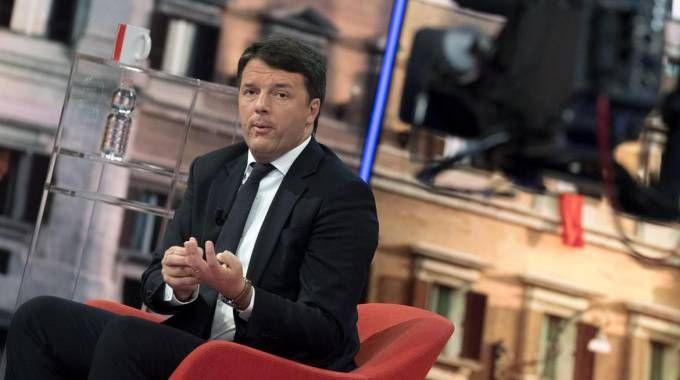 Matteo Renzi ospite da 'Matrix' (Ansa)