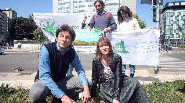 Il parlamentare europeo Marco Cappato e Antonella Soldo