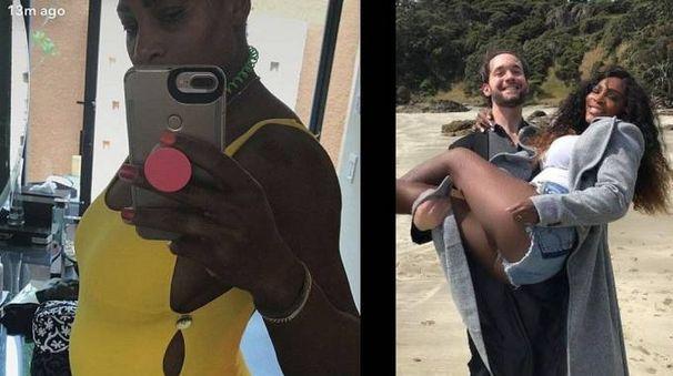 Serena Williams incinta (combo)