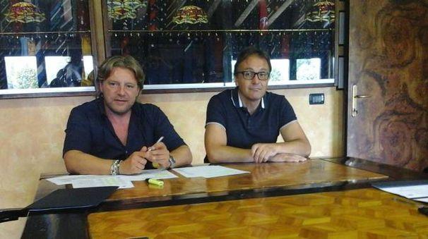 Il presidente Vaccari e l'allenatore Brunello