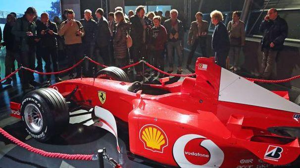 La Ferrari con cui Schumacher vinse l'ultimo Gp disputatosi sul Santerno: era il 2006