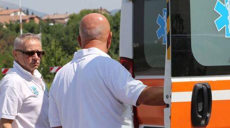 La donna è stata soccorsa da un'ambulanza partita da Assisi