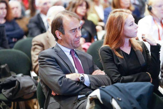 Il direttore di Qn-il Resto del Carlino, Andrea Cangini con la moglie Eva Benini (Foto Schicchi)