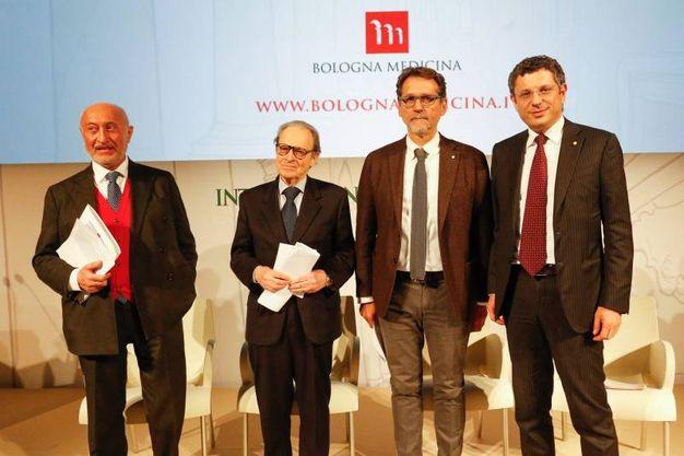Roversi Monaco, Sibani, Merola e Ubertini (Foto Schicchi)