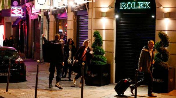 Attentato a Parigi, la gente in fuga (Afp)