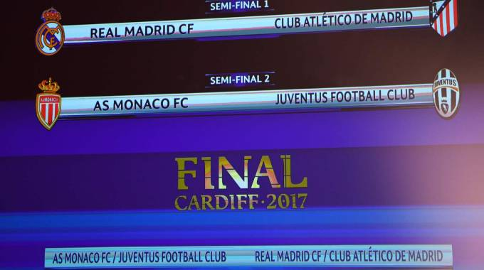 Le semifinali di Champions League 2017 (Afp)