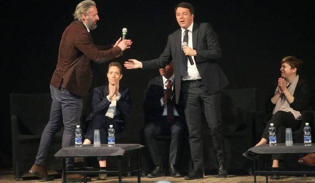 L'ex premier con Fabrizio Landi Lia  (Foto Ravaglia)