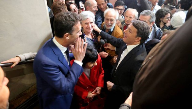 Renzi con Mara Valdinosi (Foto Ravaglia)
