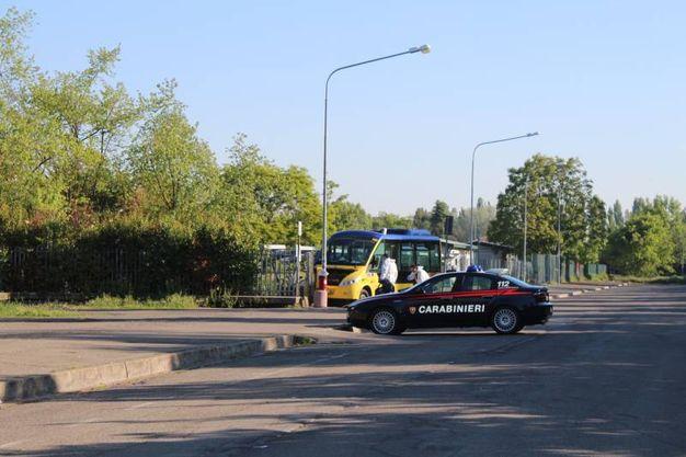 Sul posto sono intervenuti anche i carabinieri (foto Cabri)