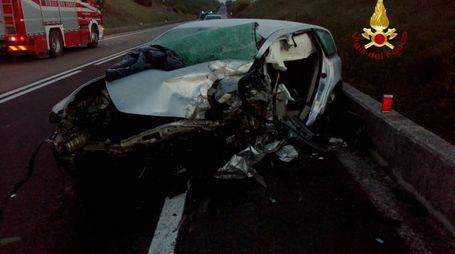Una delle auto coinvolte nel tragico incidente