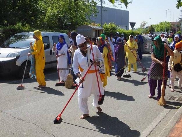 La sfilata degli indiani Sikh