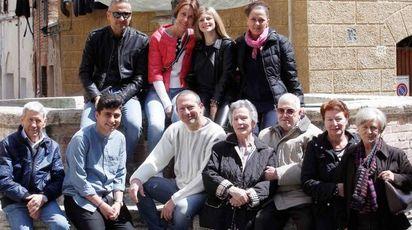 Sirio e Silvana con la loro grande famiglia