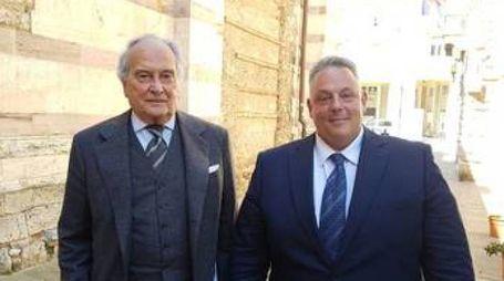 Luzzetti ed il sindaco Vivarelli Colonna