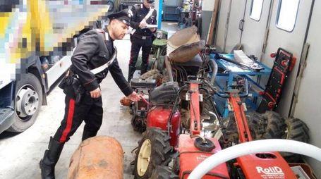 Imola, gli attrezzi agricoli sequestrati dai carabinieri