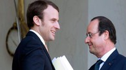 Macrone e Hollande (Afp)