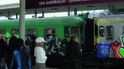 La stazione ferroviaria Garibaldi, al quartiere Meridiana  di Casalecchio (Foto Mignardi)