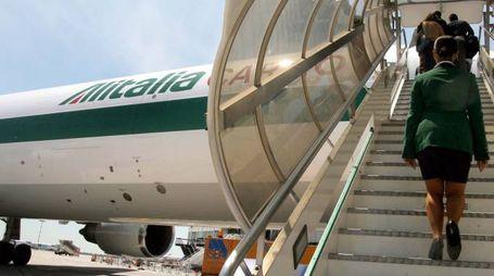 Alitalia, imbarco del personale (Imagoeconomica