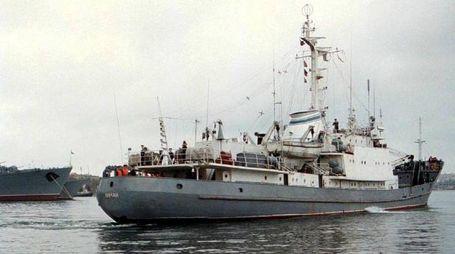 Una foto d'archivio della nave russa Liman (Ansa)