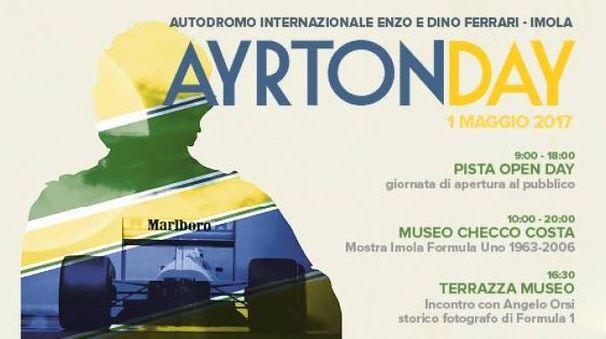 La locandina che annuncia l'evento del 1° maggio in autodromo