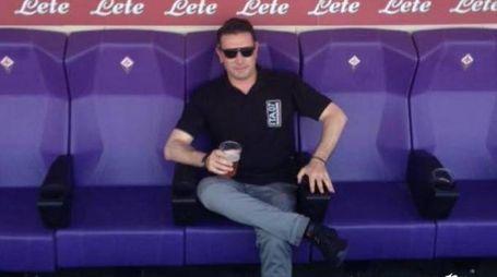 Marco Ficini, quarantunenne tifoso della Fiorentina originario di Orentano