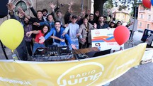 La festa di Radio Jump in piazza Morgagni (foto Frasca)