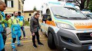 Chiodi nelle gomme delle ambulanze (foto Acerboni/FotoCastellani)