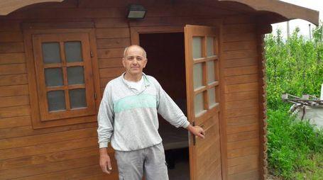 Massimo Temporin ha denunciato la sparizione di una coperta dal suo capanno