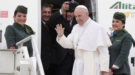Papa Francesco parte per l'Egitto (Afp)