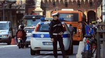 Una pattuglia della polizia municipale in centro (Schicchi)