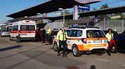 I soccorsi nella stazione di Parona