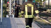 SOCCORSI E RILIEVI I vigili del fuoco sui binari (Sacchiero)