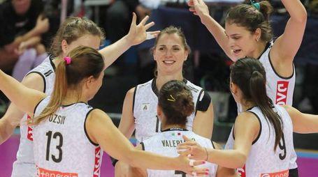 La gioia delle ragazze bianconere che hanno portato a casa il pass per la finale scudetto