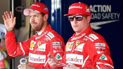 Sebastian Vettel e Kimi Raikkonen (Afp)