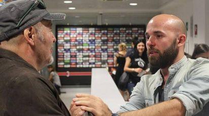 Lorenzo Rossi con il papà Vasco