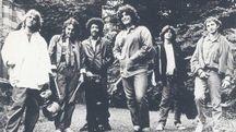 La band di Pino Daniele nell'81. Zurzolo è il secondo da destra