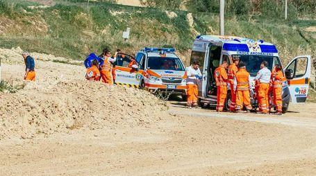 I soccorsi al crossodromo (Foto Zeppilli)