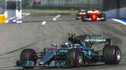 Bottas inseguito da Vettel e Raikkonen (Ansa)