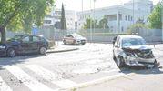 Le due auto coinvolte nell'incidente (Attalmi)