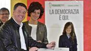 Matteo Renzi vota a Pontassieve (Ansa)