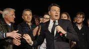 Primarie Pd, Matteo Renzi nella sede del Pd (foto Ansa)