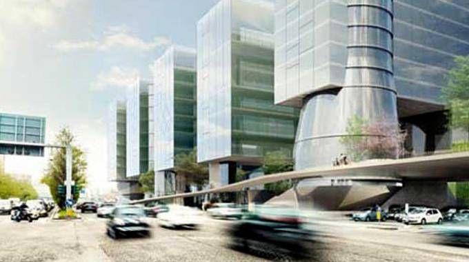 Rendering del progetto Milano Alta di Vitali Spa  al Portello