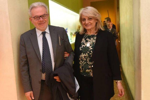 Lanfranco Massari con la moglie (Schicchi)