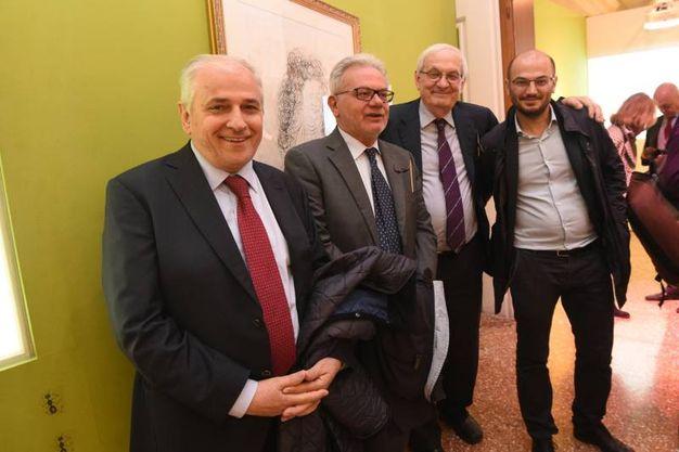 Daniele Passini, Lanfranco Massari, Giorgio Tabellini e Davide Conte (schicchi)