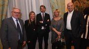 Lanfranco Massari, Marilena Pillati, Stefano Dallara con la moglie e alcuni amici (Schicchi)
